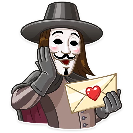 Guy Fawkes - Sticker 8
