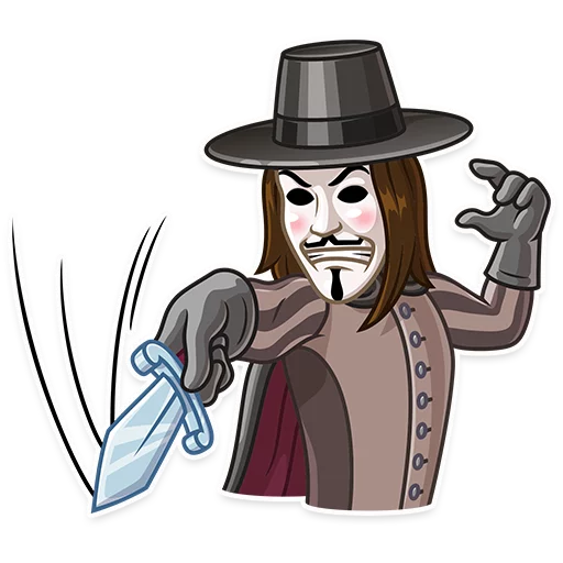 Guy Fawkes - Sticker 18