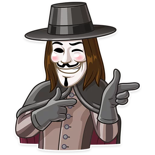 Guy Fawkes - Sticker 24