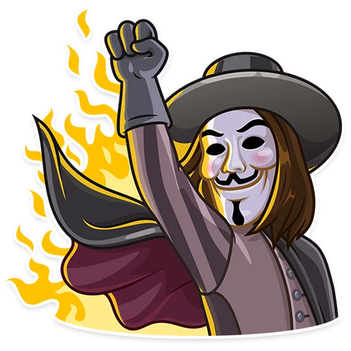 Guy Fawkes - Sticker 21