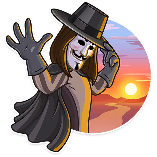 Guy Fawkes - Sticker 15