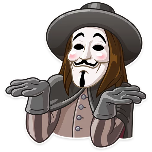 Guy Fawkes - Sticker 11