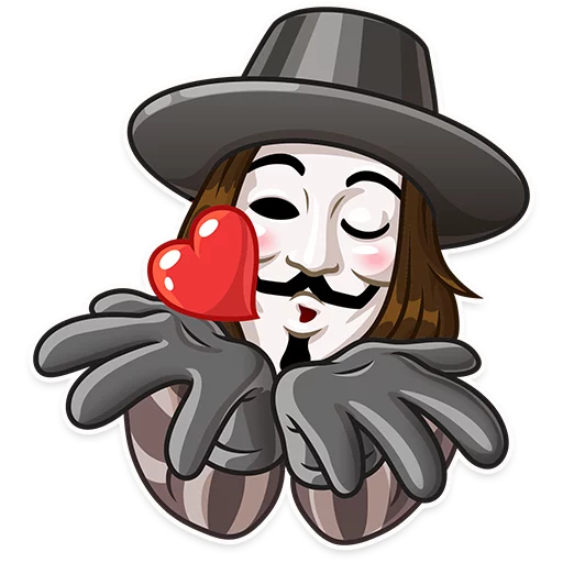 Guy Fawkes - Sticker 2