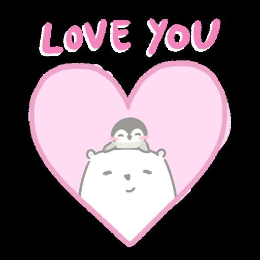 Polar bear Vanilla & Penguin Mochi #2 Celebrations - Sticker 6