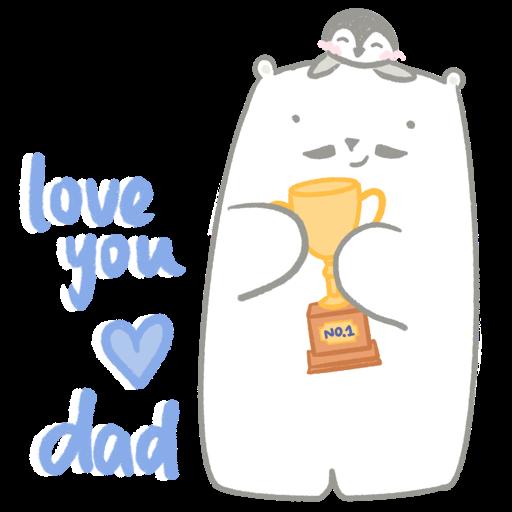 Polar bear Vanilla & Penguin Mochi #2 Celebrations - Sticker 3