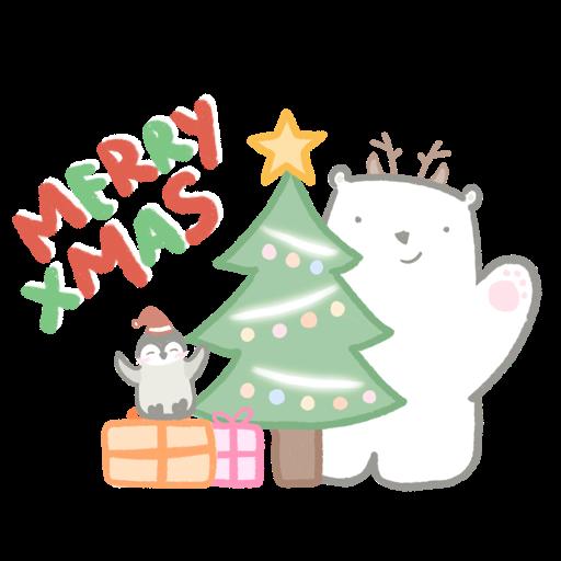 Polar bear Vanilla & Penguin Mochi #2 Celebrations - Sticker 12