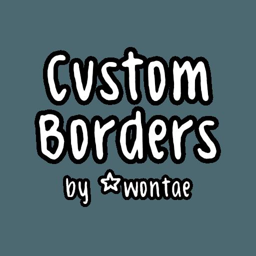 custom borders - Tray Sticker