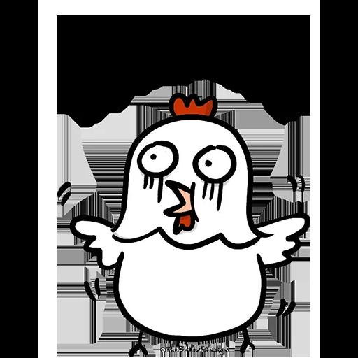欠扁鸡 - Sticker 7
