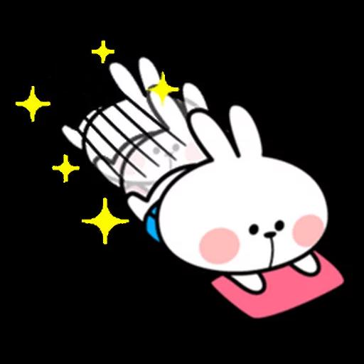 spoilt rabbit apron - Sticker 6