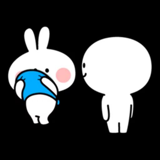 spoilt rabbit apron - Sticker 22