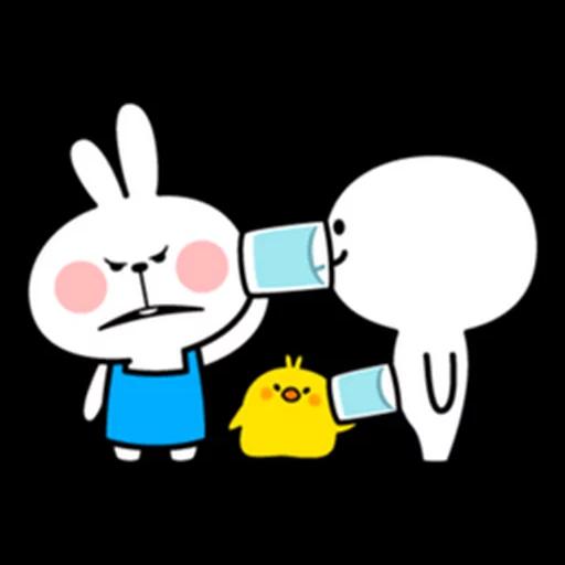 spoilt rabbit apron - Sticker 10