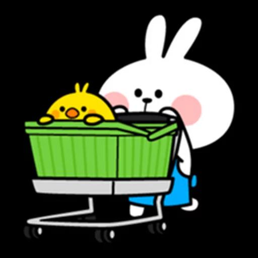 spoilt rabbit apron - Sticker 13