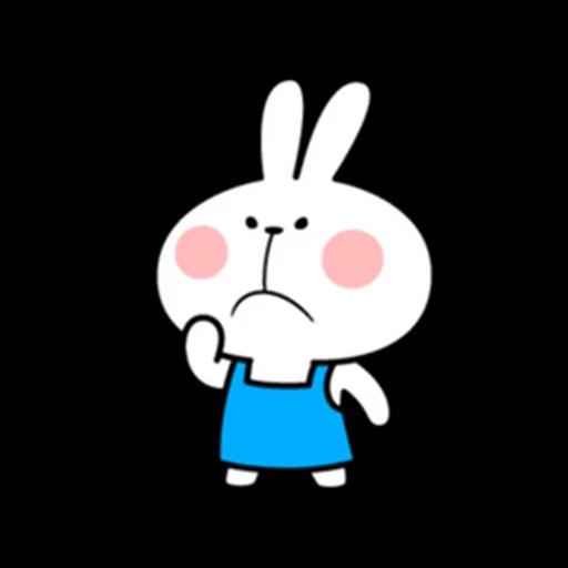 spoilt rabbit apron - Sticker 30