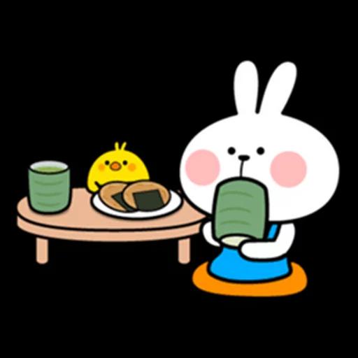 spoilt rabbit apron - Sticker 28