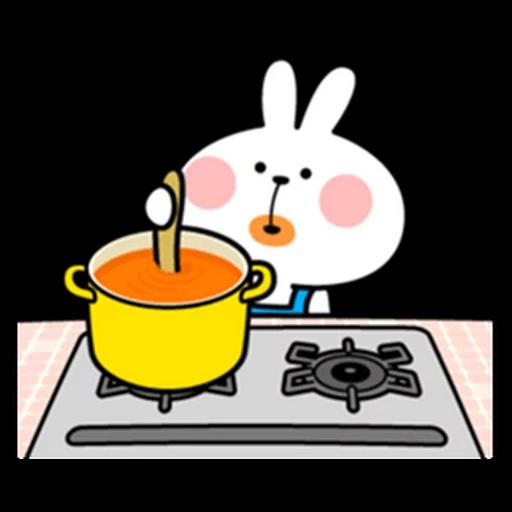spoilt rabbit apron - Sticker 16