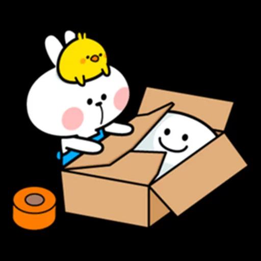 spoilt rabbit apron - Sticker 9