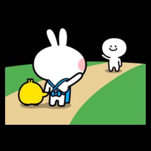 spoilt rabbit apron - Sticker 26