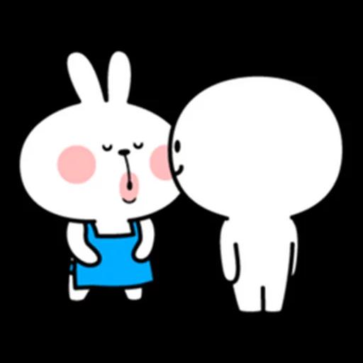 spoilt rabbit apron - Sticker 24