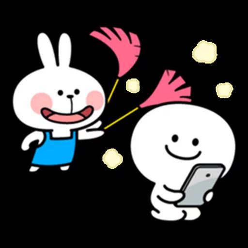 spoilt rabbit apron - Sticker 7