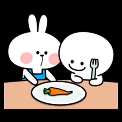 spoilt rabbit apron - Sticker 18