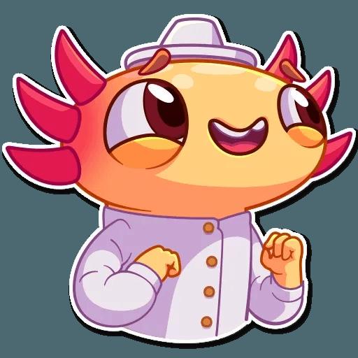 Mexican Axolotl - Sticker 4