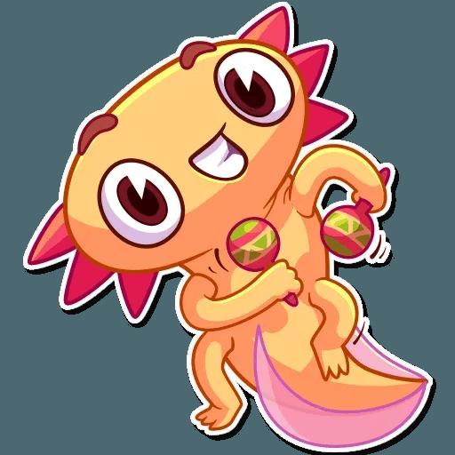 Mexican Axolotl - Sticker 12