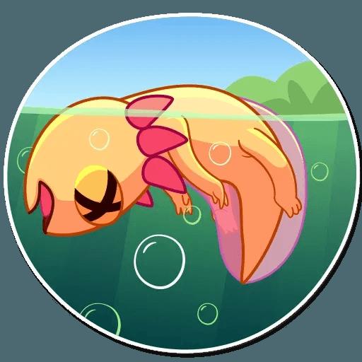 Mexican Axolotl - Sticker 25