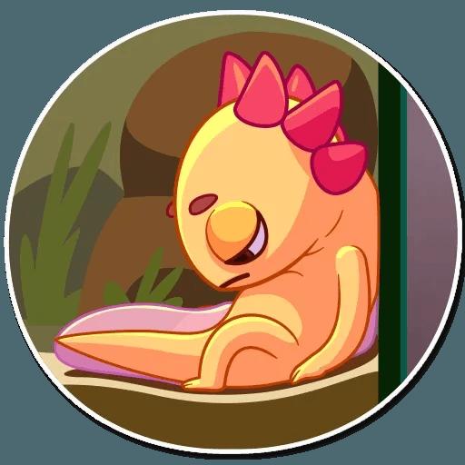 Mexican Axolotl - Sticker 7