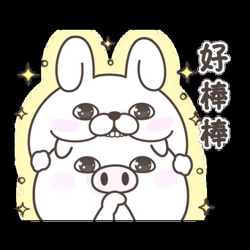 YOSISTAMP Rabbit 100% and Friends - Sticker 6