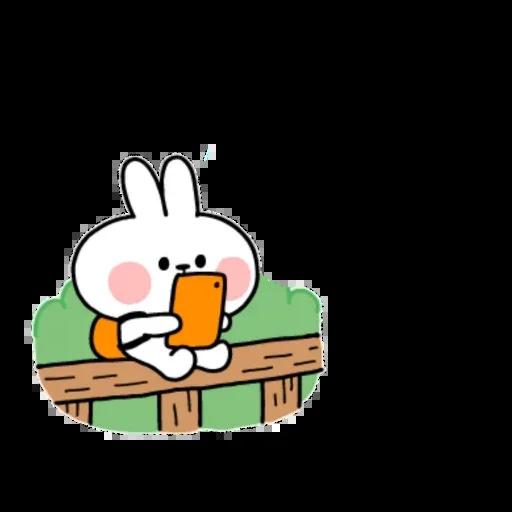 Spoiled rabbit small - Sticker 5
