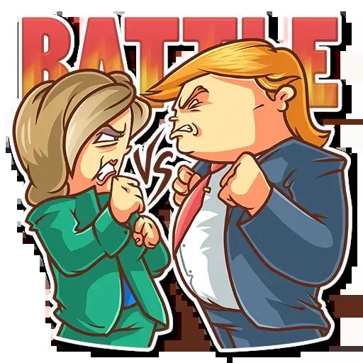 Clinton vs. Trump - Sticker 14