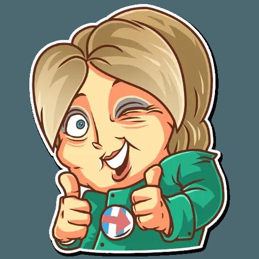Clinton vs. Trump - Sticker 6