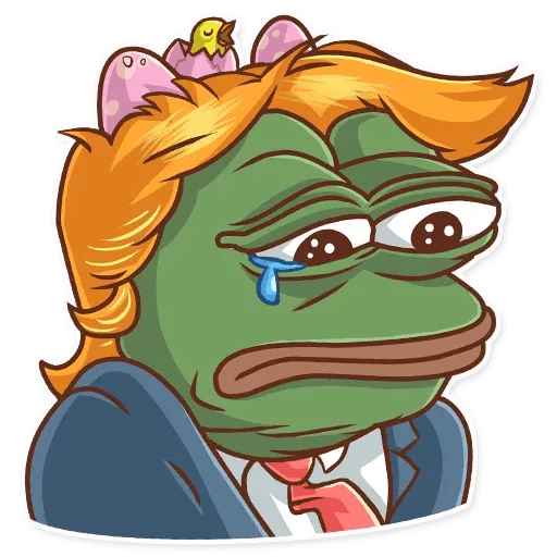Clinton vs. Trump - Tray Sticker