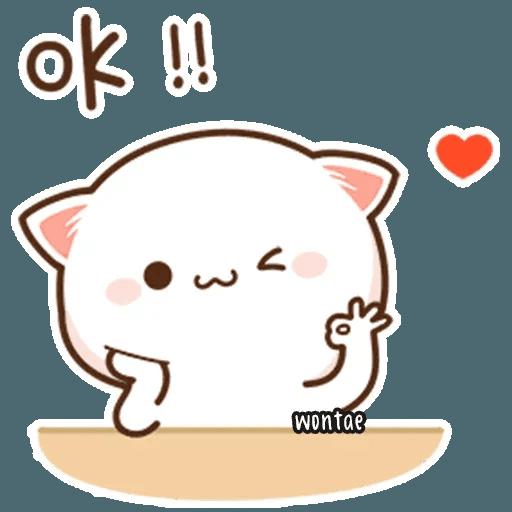 mochi mochi peach cat - Sticker 7