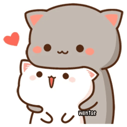 mochi mochi peach cat - Sticker 27