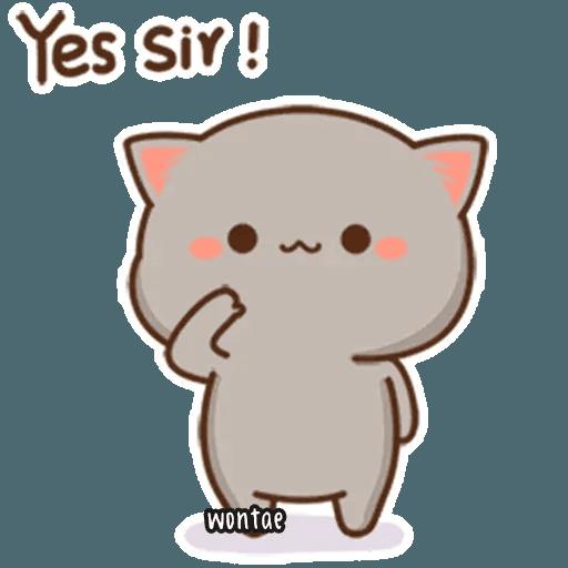 mochi mochi peach cat - Sticker 20