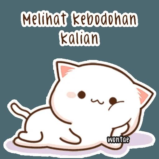 mochi mochi peach cat - Sticker 17
