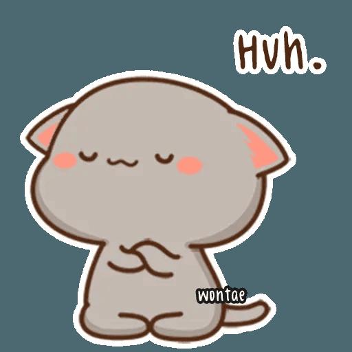 mochi mochi peach cat - Sticker 15