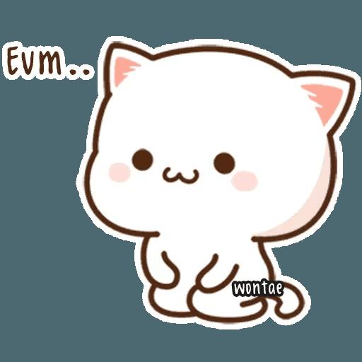mochi mochi peach cat - Sticker 9