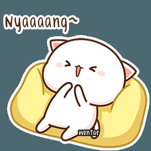 mochi mochi peach cat - Sticker 5