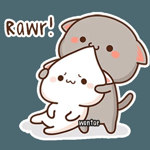 mochi mochi peach cat - Sticker 4