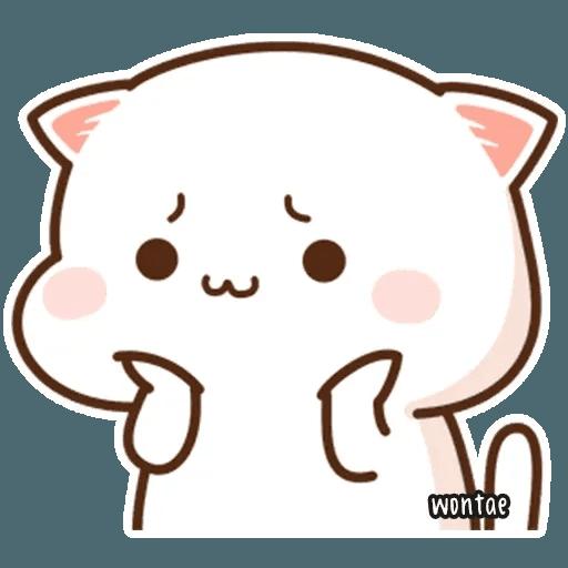 mochi mochi peach cat - Sticker 2