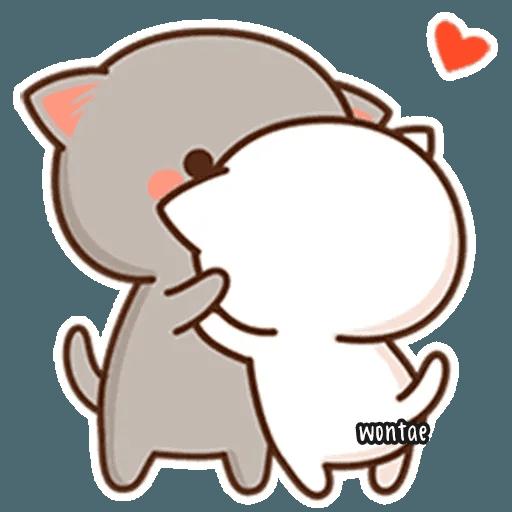 mochi mochi peach cat - Sticker 8
