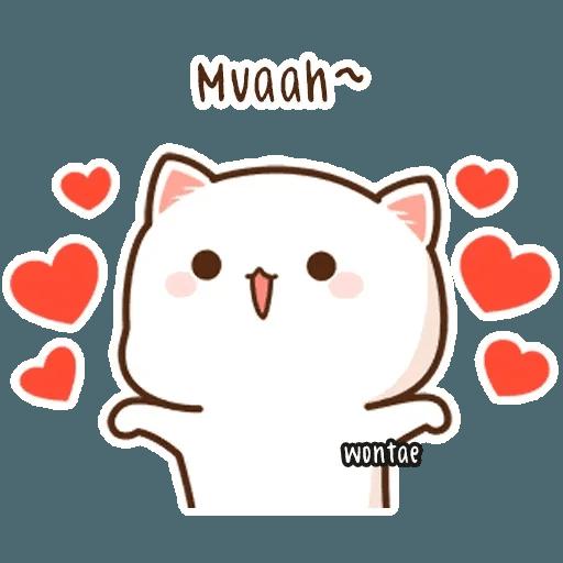 mochi mochi peach cat - Sticker 18