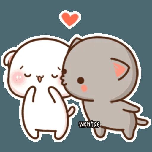 mochi mochi peach cat - Sticker 3