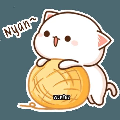 mochi mochi peach cat - Tray Sticker