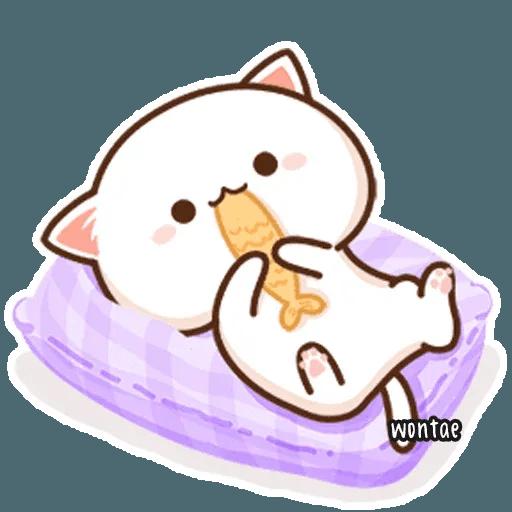 mochi mochi peach cat - Sticker 30