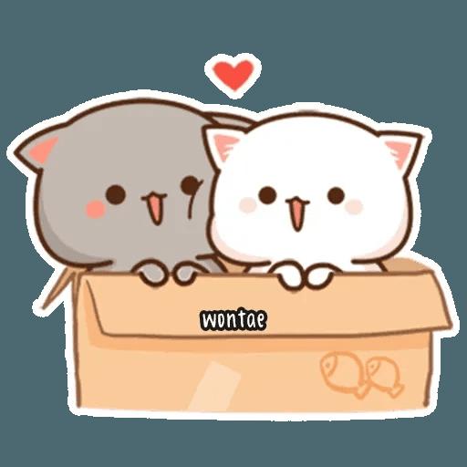 mochi mochi peach cat - Sticker 12
