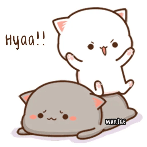 mochi mochi peach cat - Sticker 11