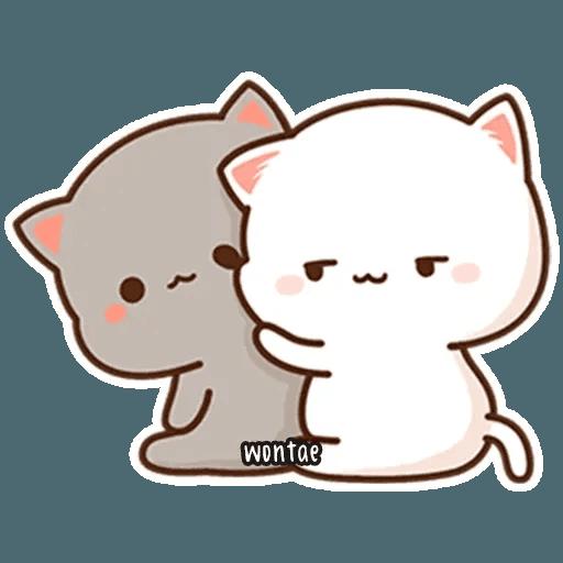 mochi mochi peach cat - Sticker 19